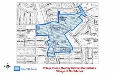 Village Green Overlay District Boundaries