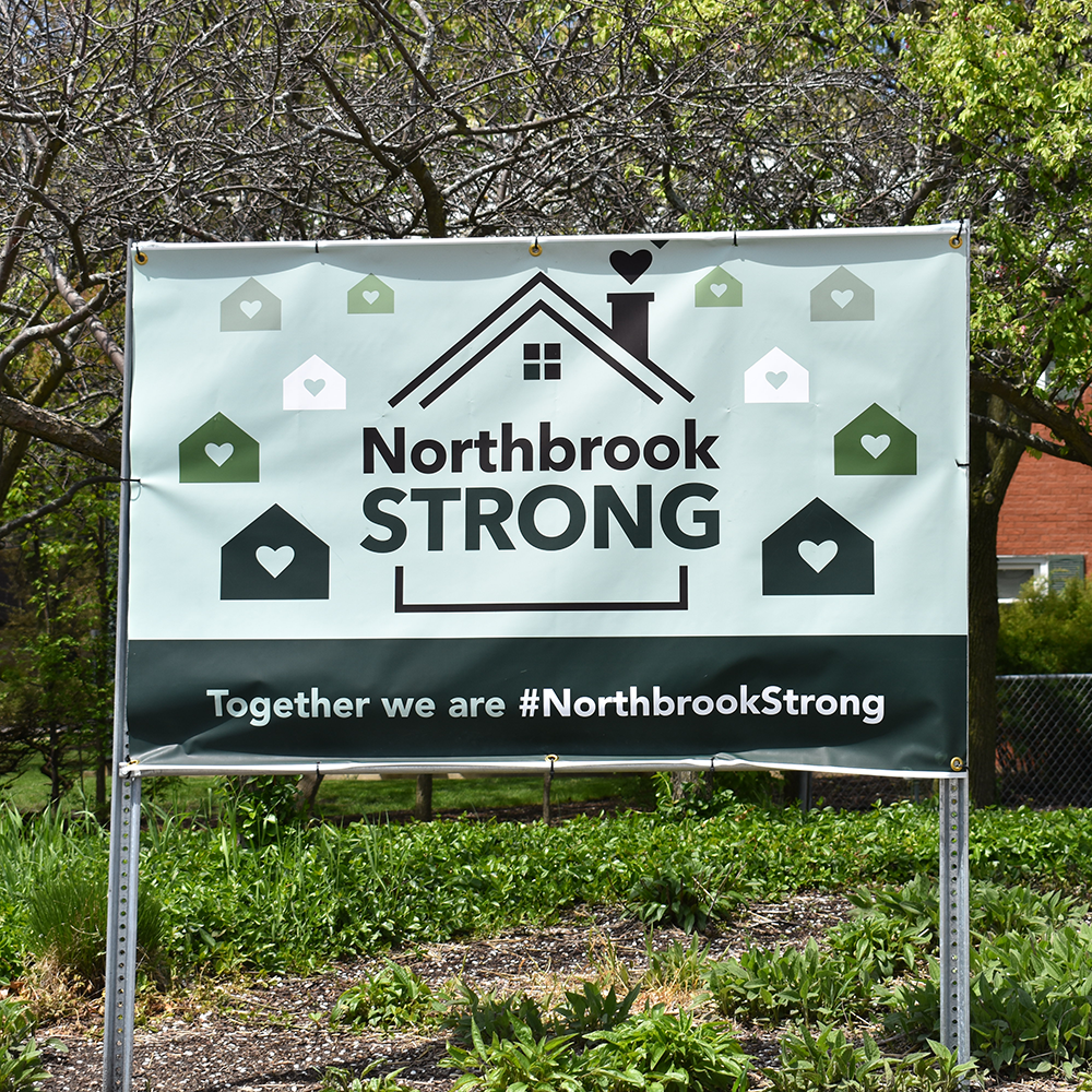 Banner that says Northbrook Strong
